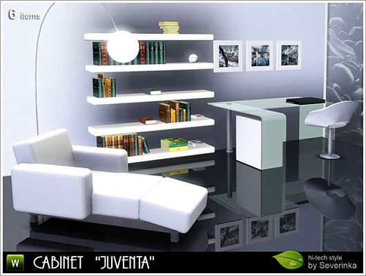 Sims 3 cabinet, furniture, desk, study, room, objects, decor, shelves