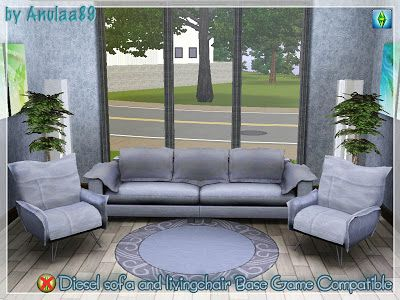 Sims 3 living, livingroom, sofa, objects, furniture, diesel