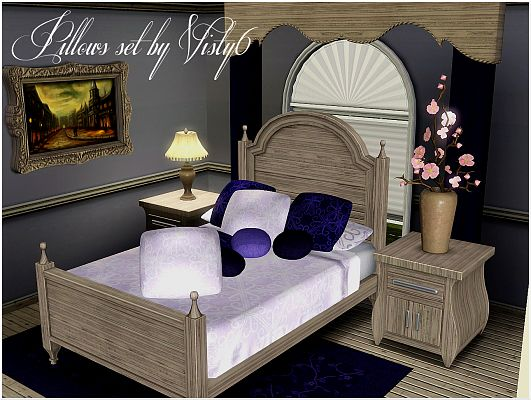 Sims 3 pillows, decor, objects