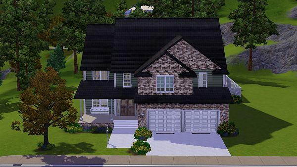 Sims 3 house, lot, residential, sims 3, cottage