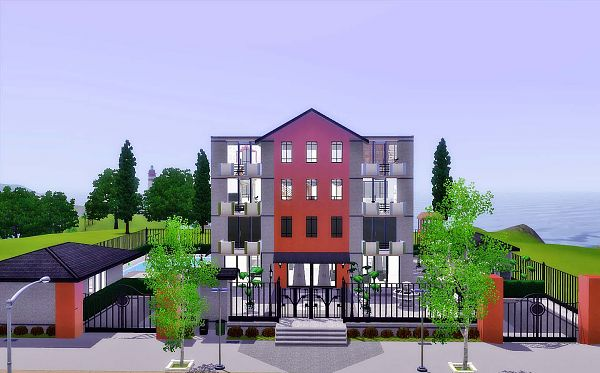 Sims 3 house, lot, residential, sims 3, apartment