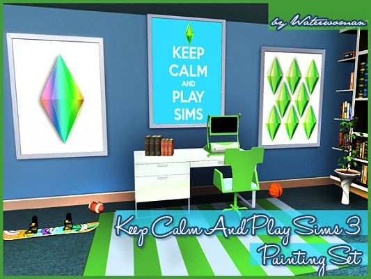 Sims 3 paint, paintings, objects, sims 3