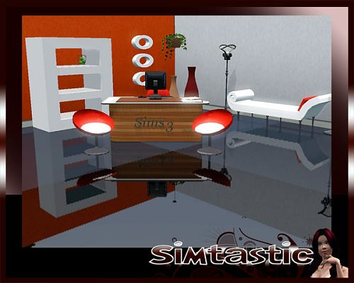 Sims 3 study, room, office, furniture, objects