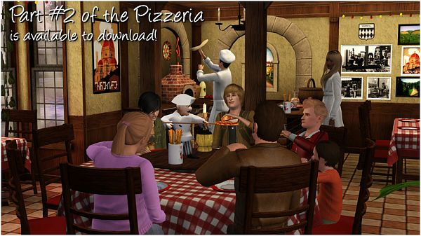 Sims 3 objects, pizza, pizzeria