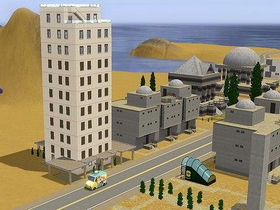 Sims 3 tower, build, apartments