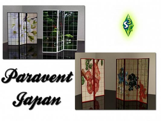 Sims 3 divider, object, decor, sims3, japanese