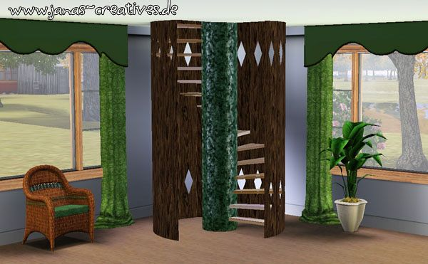Sims 3 spiral, stair, staircase, build