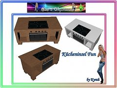 Sims 3 kitchen, objects, furniture, sims 3, island, furniture
