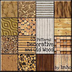 Sims 3 patterns, wood