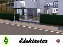 Sims 3 gate, electric, fence