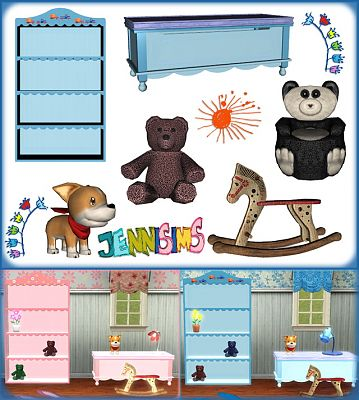 Sims 3 furniture, kids, bookcase, objects, decor