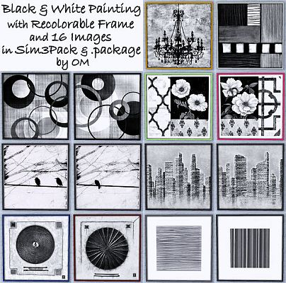 Sims 3 paint, painting, decor, objects, frame