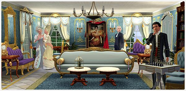 Sims 3 object, set, clothing, furniture, palace, versailles