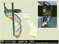 Sims 3 light, lamp, stairs, spiral, colors