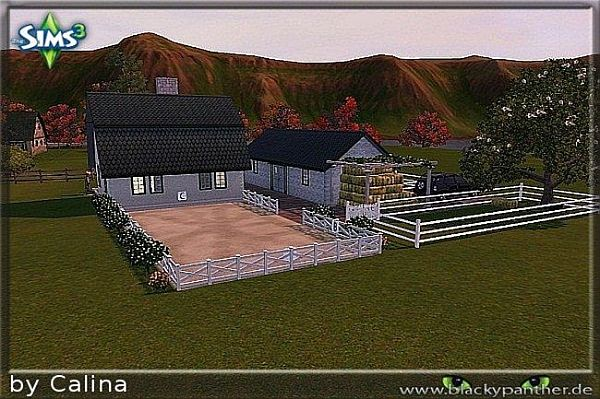 Sims 3 residential, lot, building, house, horse