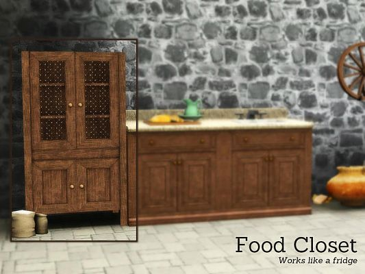 Sims 3 food storage, furniture, objects, decor