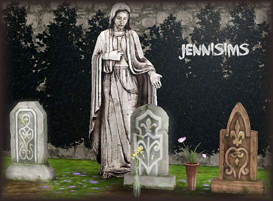 Sims 3 statue, object, decor, tomb