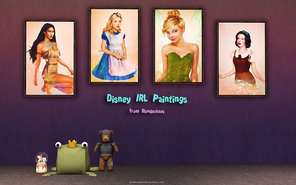 Sims 3 paint, painting, decor, objects, disney