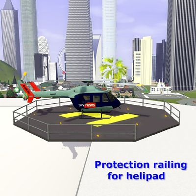 Sims 3 protection, heliport, objects, decor