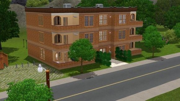 Sims 3 house, lot, residential, sims3, apartment