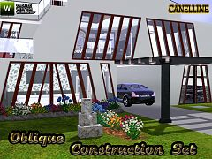 Sims 3 build, objects, windows, set, construction