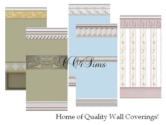 Sims 3 wall, pattern, set