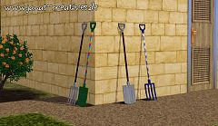 Sims 3 digging fork, spade, tools, objects, decor
