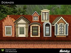 Sims 3 build, dormers, roof