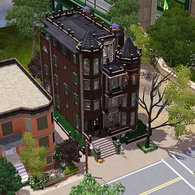 Sims 3 house, lot, residential, sims3, apartment, gothic