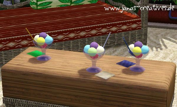 Sims 3 icecream, decor, objects