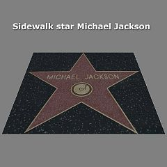 Sims 3 sidewalk, star, Michael Jackson , decor