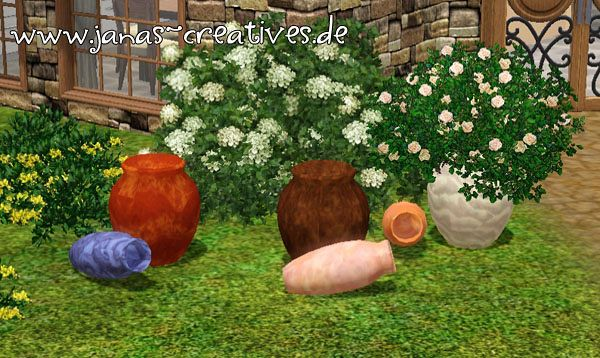 Sims 3 vase, set, objects, sims3