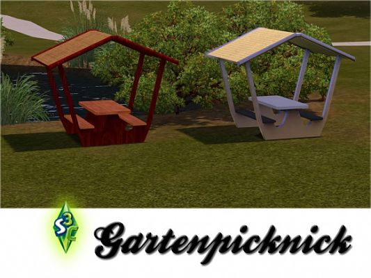 Sims 3 picnic, outdoor, set