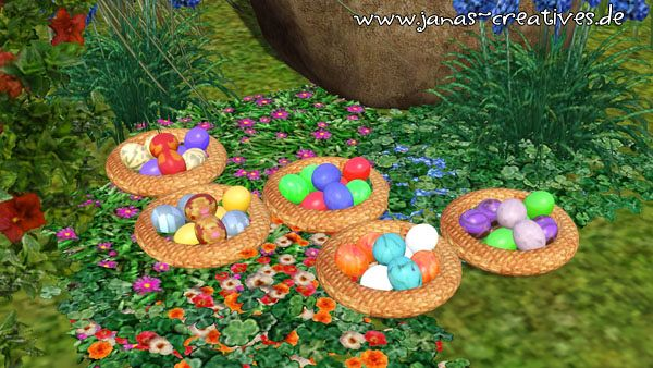 Sims 3 Easter, decor, objects