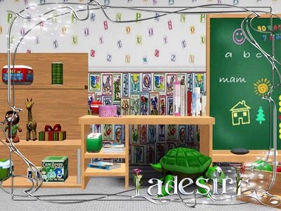 Sims 3 kids, kidsroom, playroom, furniture, objects, set