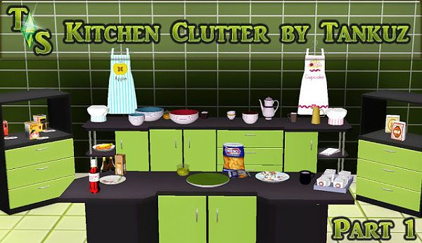 Sims 3 clutter, objects, decor, kitchen