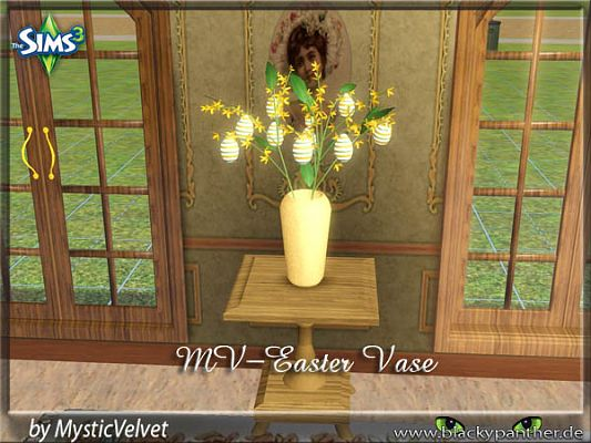 Sims 3 vase, easter, decor, eggs