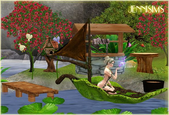 Sims 3 fairy, set, objects, decor, outdoor