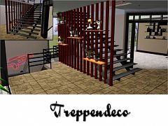 Sims 3 staircase, decor, objects