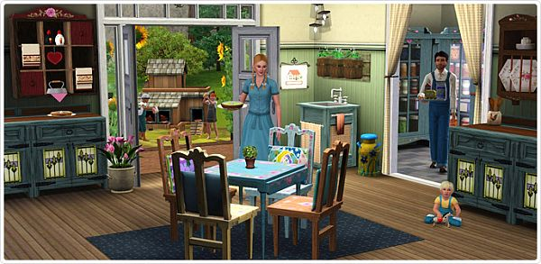 Sims 3 furniture, country, clothing