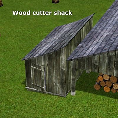 Sims 3 wood cutter, caw, objects
