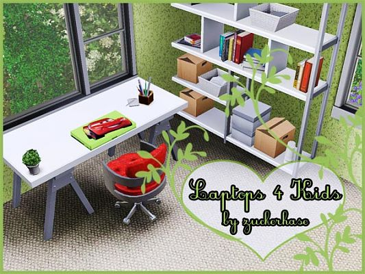 Sims 3 laptop, decor