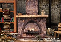 Sims 3 fireplace, medieval, build