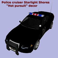 Sims 3 car, vehicle, auto, automobile, police