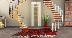 Sims 3 spiral, staircase, build, objects