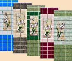 Sims 3 tile, wall, flowers, build