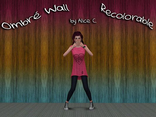 Sims 3 wall, recolorable