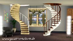 Sims 3 spiral, staircase, build