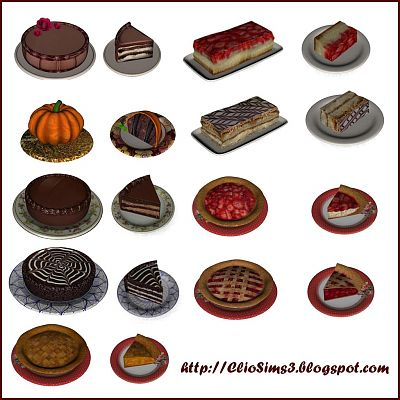 Sims 3 cake, decor, objects