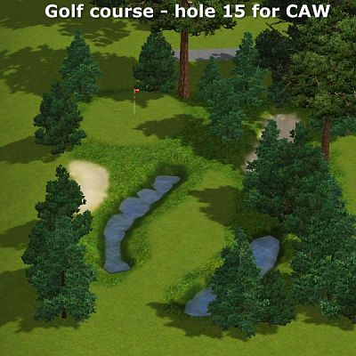 Sims 3 golf, course, lot